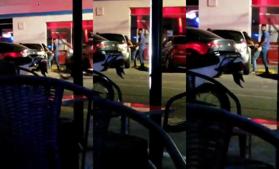 Casal é flagrado transando na frente do bar depois da bebedeira